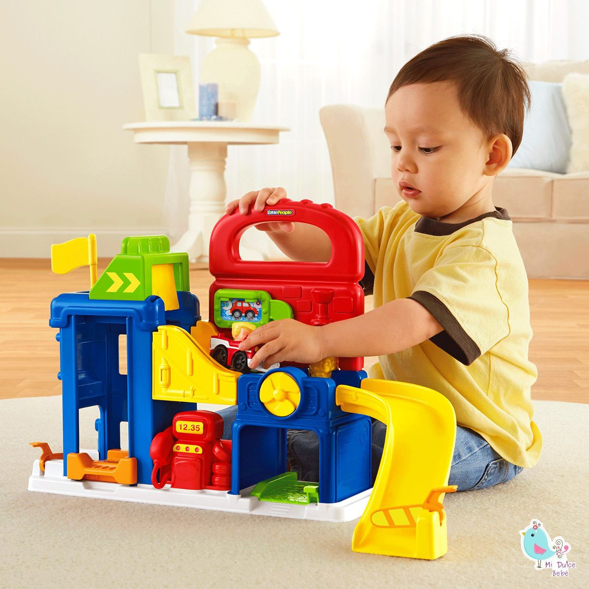 Pricing People: Garage Con Accesorios Little People Bft92 De Fisher Price
