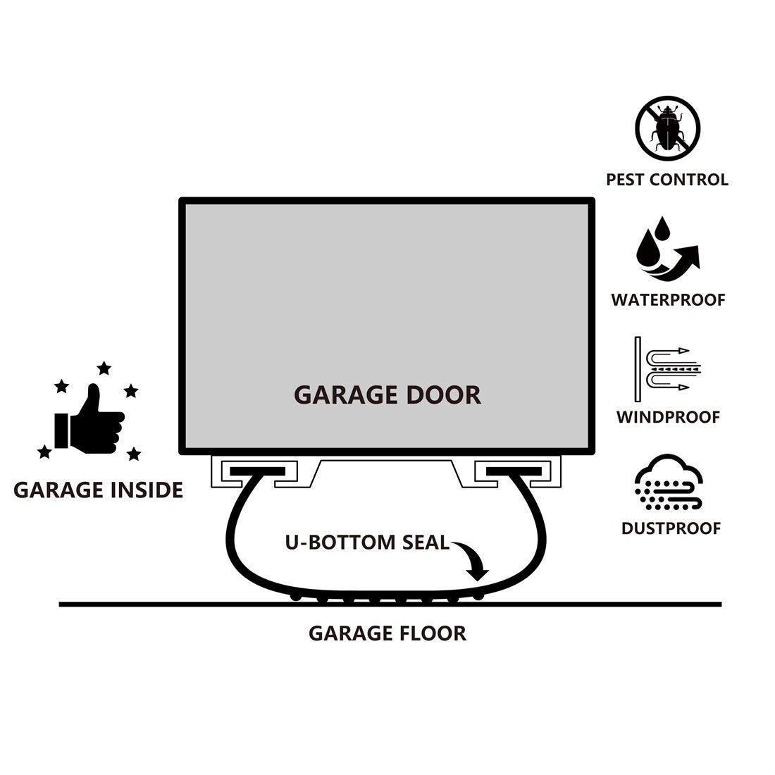 Garage Door Bottom Weather Stripping Kit Rubber Seal Strip R 141 900 En Mercado Libre