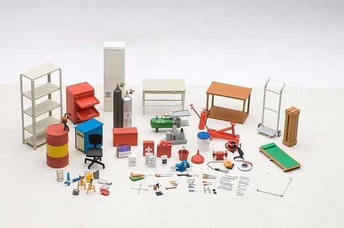 garage kit set herramientas escala 1:18  autoart 49110