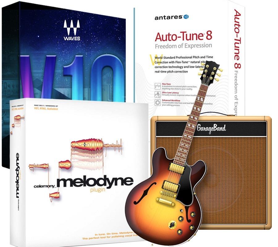 Garageband   Waves 10   Melodyne 4   Autotune  mac