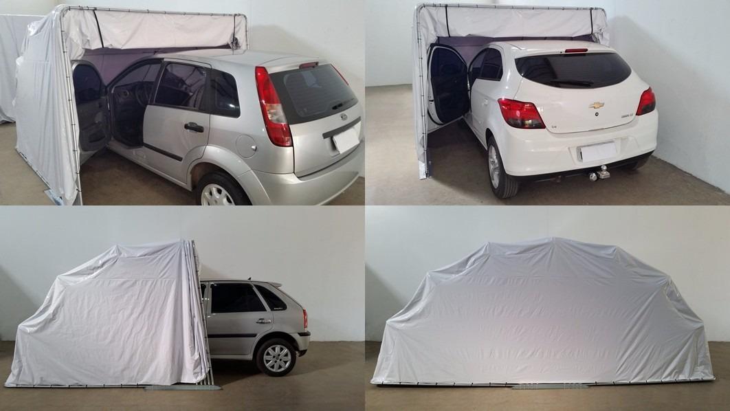 Garagem flex retr til dupla para carro cobertura m vel for Garage jm auto audincourt