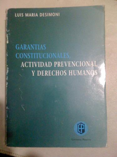 garantias constitucionales actividad prevencional - desimoni