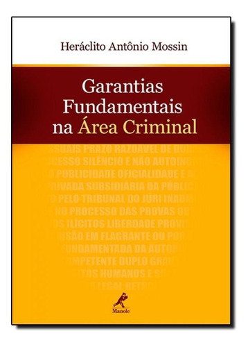 garantias fundamentais na área criminal