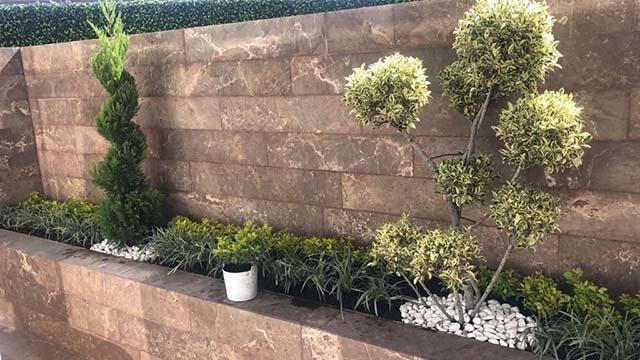 garden con terraza edificio stampa