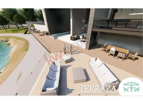 garden house en torre departamental en alto lago, multiples amenidades $5,922,357.00