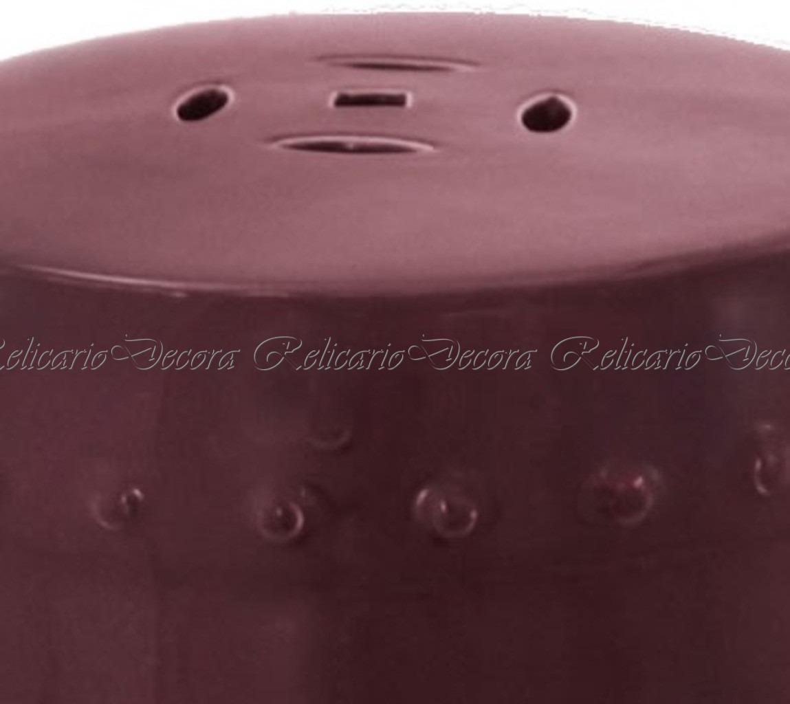 Compre Armário Classic Líder Design Vermelho: Garden Seat Em Porcelana Vinho Design Classico Impecavel