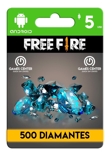 garena free fire 500 diamantes android - global