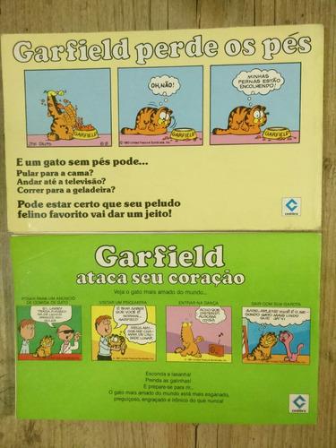 garfield cedibra  lote com 2 gibis