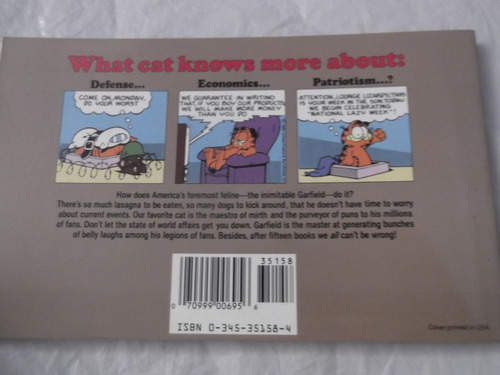 garfield world wide book 15 jim davies en ingles comics