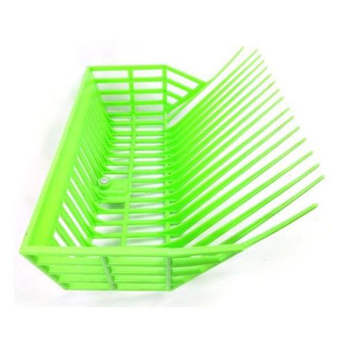 garfo cesto grande para feno e tarefas plastico verde
