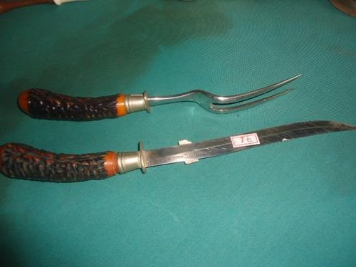 garfo e faca conjunto churrasco flint usa