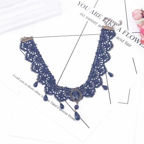 gargantilha black velvet choker necklace/ colar preto