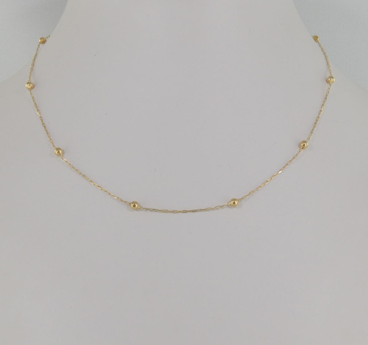 1da28013449 gargantilha cartier bolinhas 40 cm ouro 18k cordão colar. Carregando zoom.