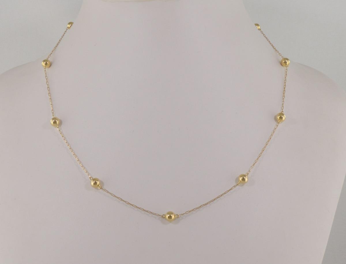 0f5b25d07e1 gargantilha cartier bolinhas 45 cm 5 ouro 18k cordão colar. Carregando zoom.