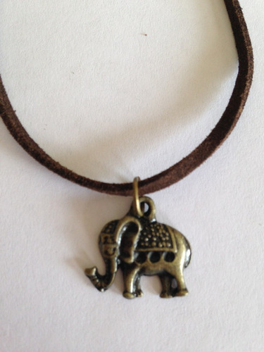 gargantilha chocker camurça - elefante -