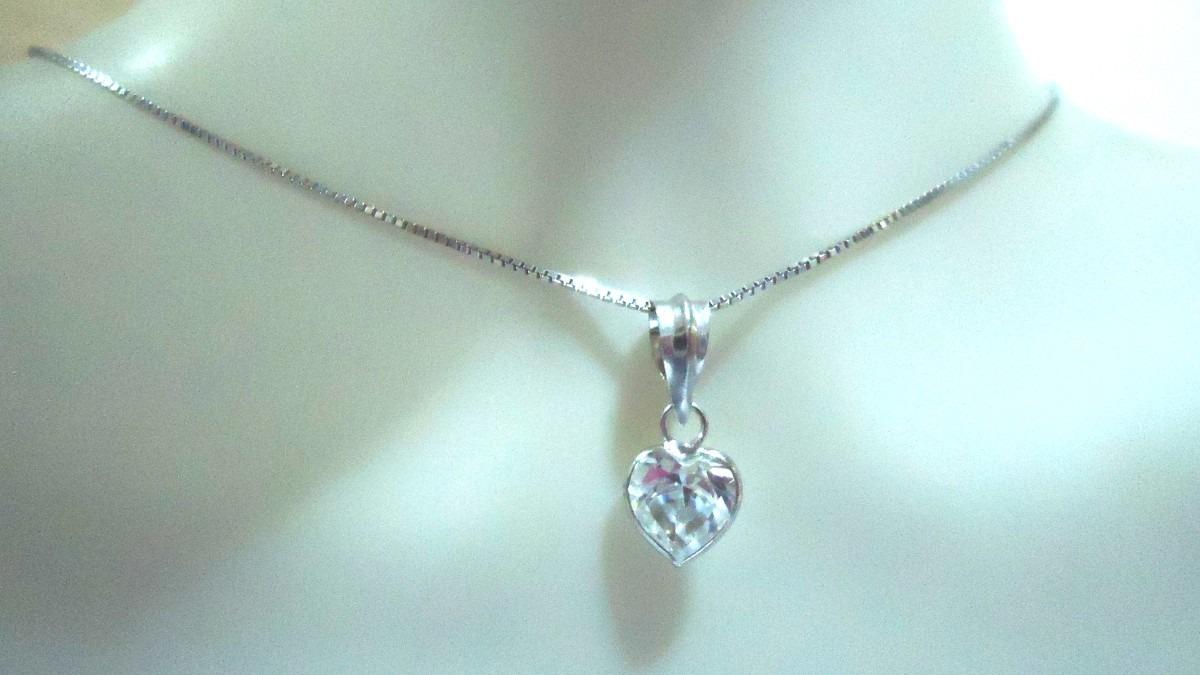c51973a460850 gargantilha coração ouro branco 18k 12x s juros frete grátis. Carregando  zoom.