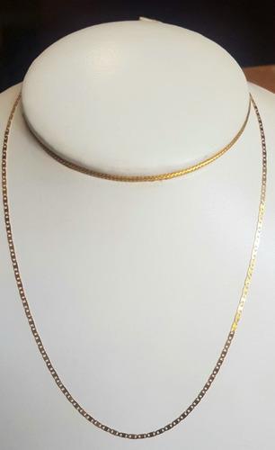 gargantilha em ouro 18k piastrine 40cm 2,30 gramas