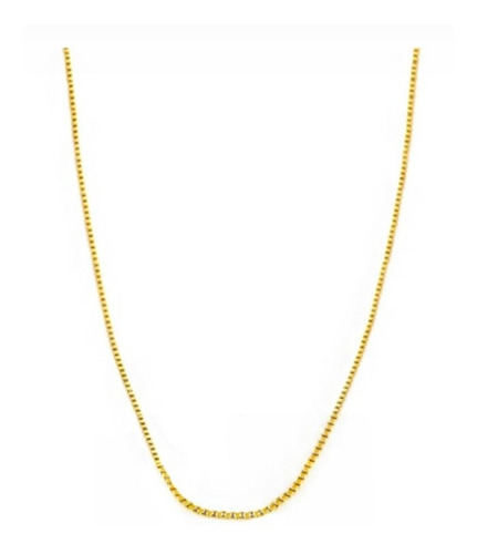 gargantilha folheada a ouro veneziana 60 cm qmaximo oferta
