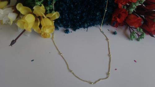 gargantilha longa folheada a ouro com corrente veneziana e b