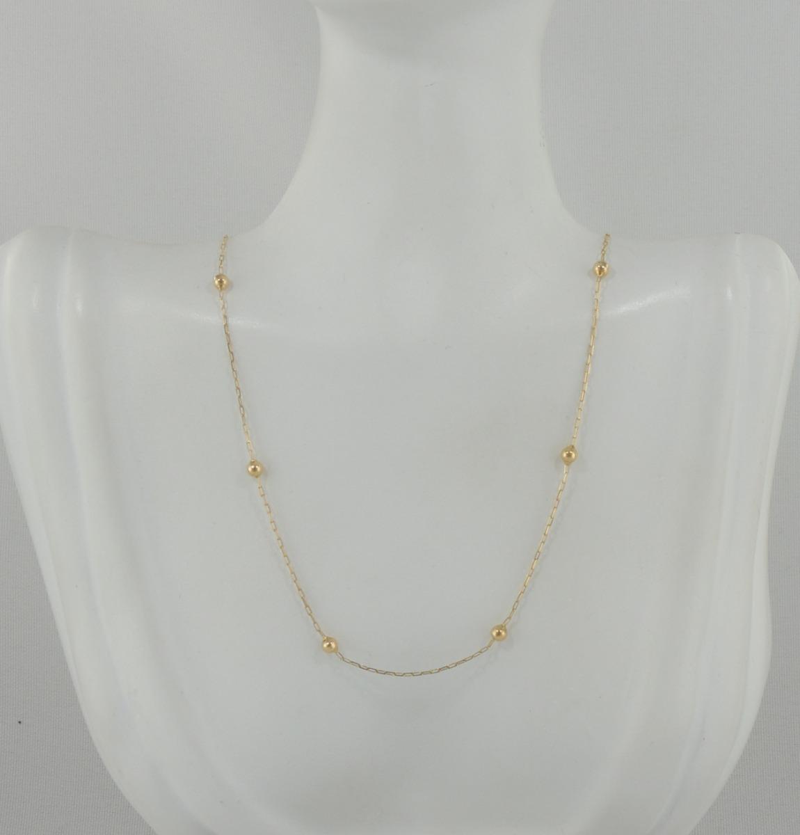 c19e0d682e0 gargantilha cartier bolinhas 40 cm ouro 18k cordão colar. Carregando zoom...  gargantilha ouro colar. Carregando zoom.