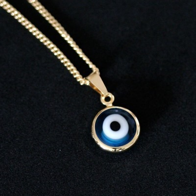 c408b7ea54793 Gargantilha Semi Jóia Folheado A Ouro Olho Grego - R  130