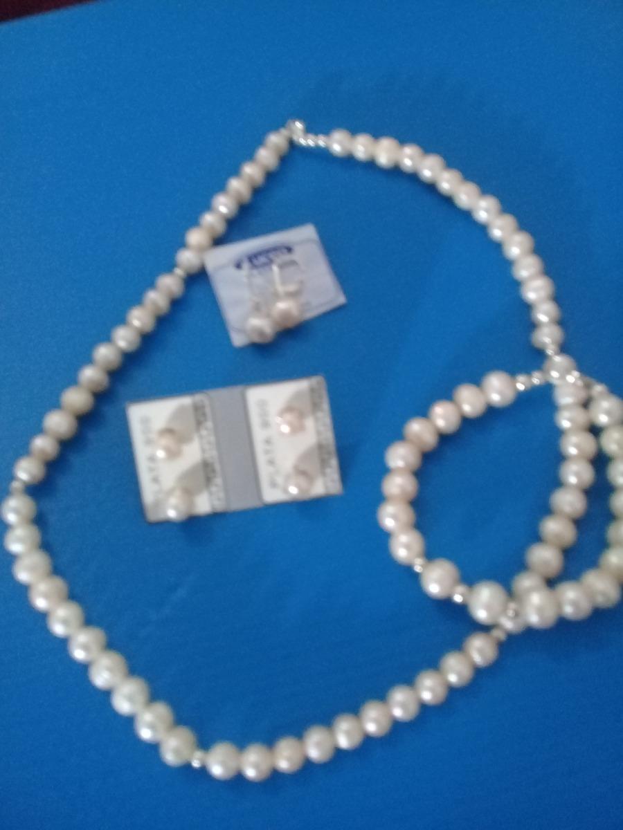90691762ed59 Gargantilla   Aros Y Pulseras Perlas Naturales Y Plata -   2.500