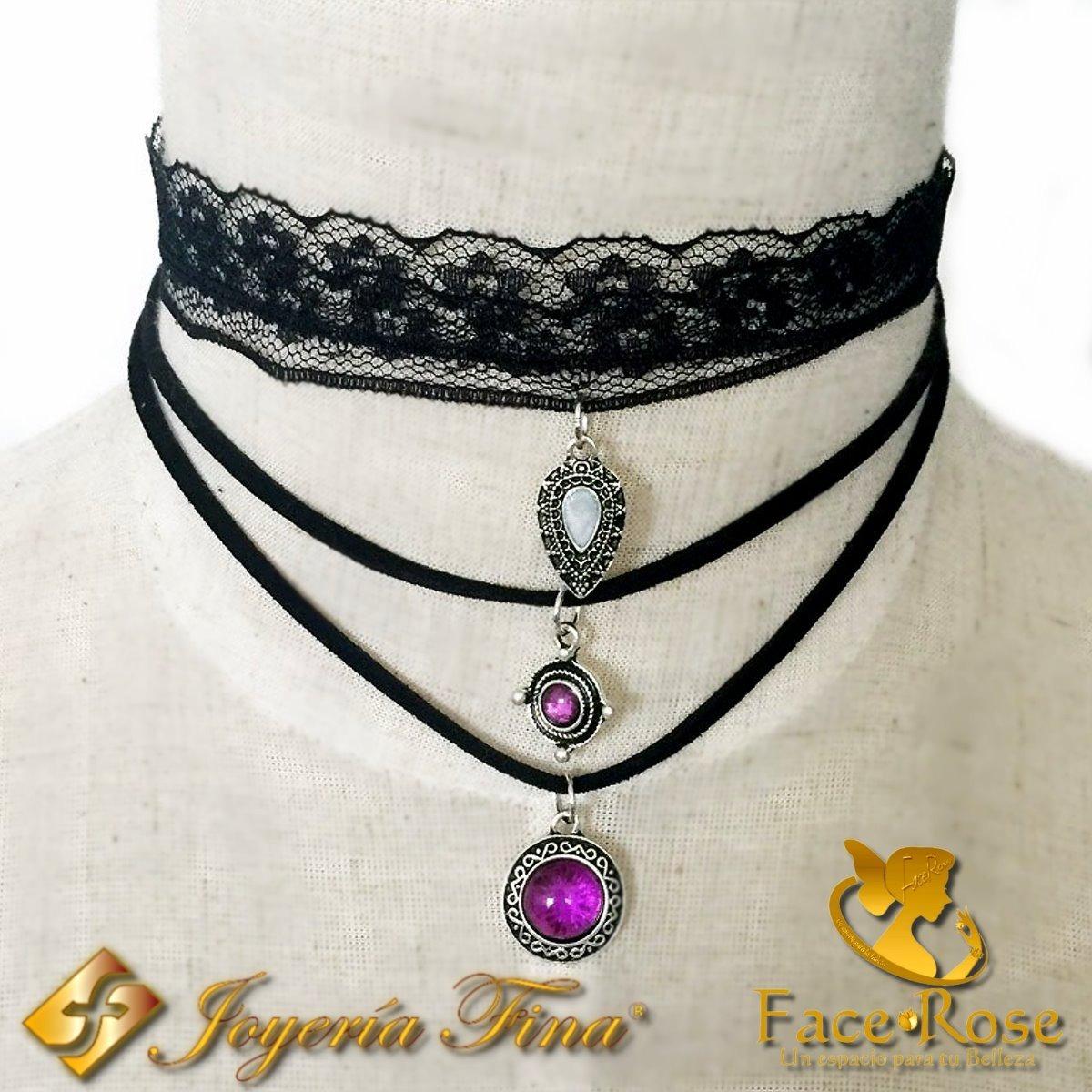 920adb642465 Gargantilla Choker Mujer Collar Regalo Kit Completo -   15.000 en ...