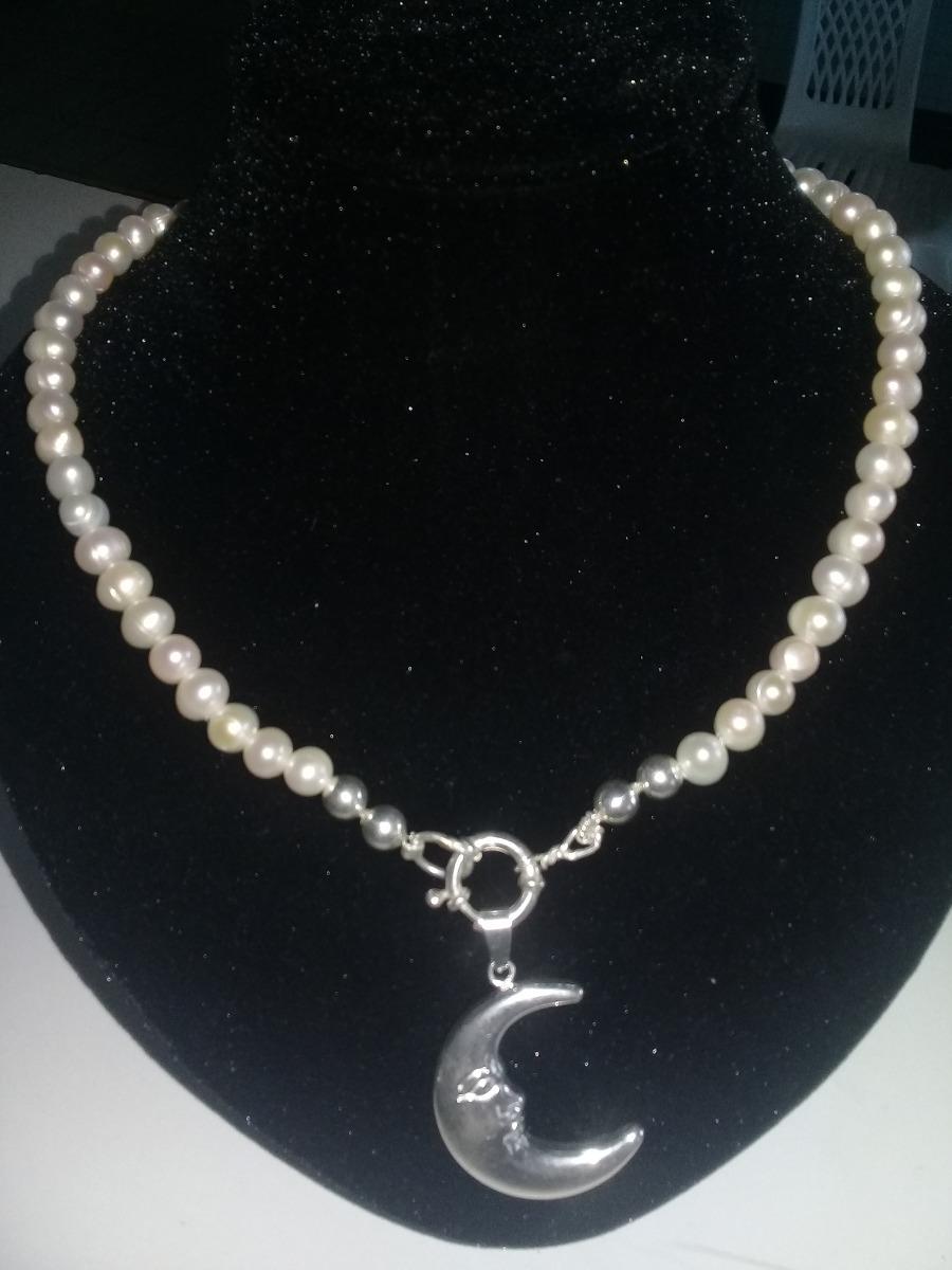 1443e1f9e404 gargantilla collar de perlas de rio y plata 925. Cargando zoom.