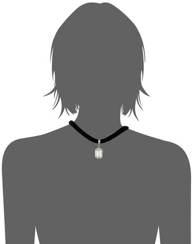 gargantilla de terciopelo negro con colgante ajustable de cr