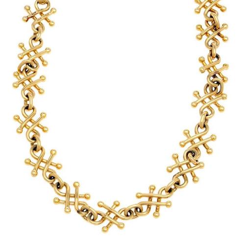 gargantilla marca tane hechura especial oro amar - 115763451