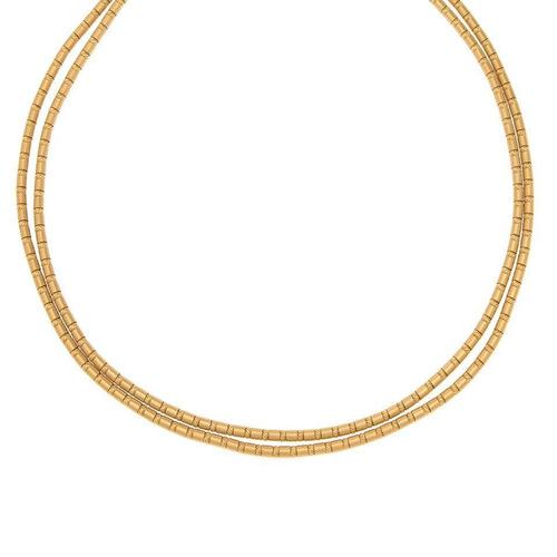 gargantilla marca zancan oro amarillo.-114390158
