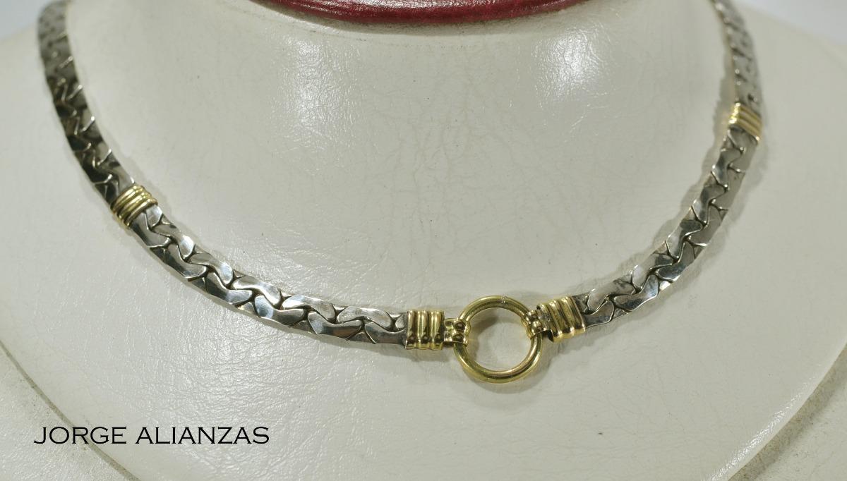b98ffc21e34a gargantilla oro y plata plana dama(242). Cargando zoom.