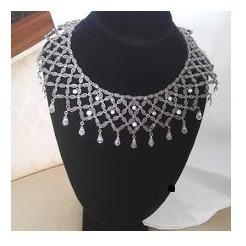 gargantilla plata 925 con marquesitas y cristales swarosky