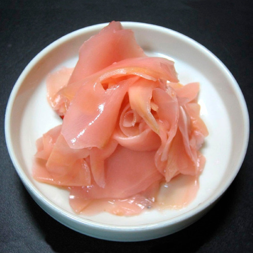 gari jengibre curtido (pink) para acompañar el sushi 20lbs