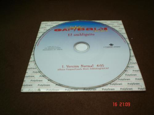 garibaldi - cd single - el ombliguito *   daa