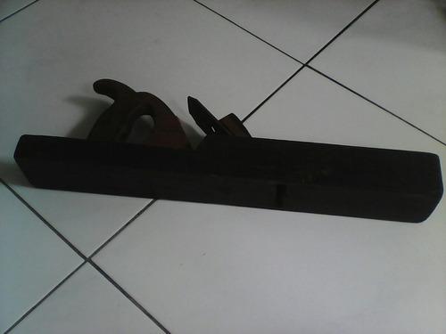 garlopa de madera antigua de 50 cm x 6 y 7 cm alto y ancho