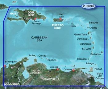 garmin bluechart g2 vision cartas nauticas maritimas caribe