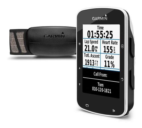 garmin edge 520 bundle strava sensores + cinta hrm premium