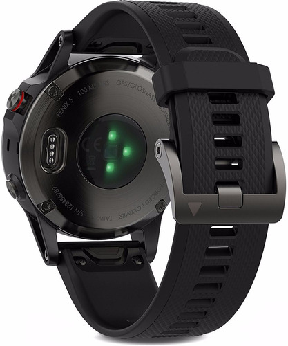 garmin fenix 5 gris correa negra 47mm con hrm tri smartwatch