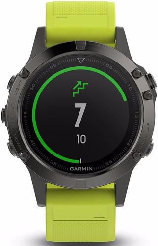 garmin fenix 5 gris correa silicona amarilla 47mm smartwatch
