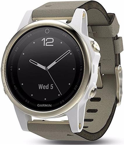 garmin fenix 5s zafiro champaña gamuza gris 42mm smartwatch