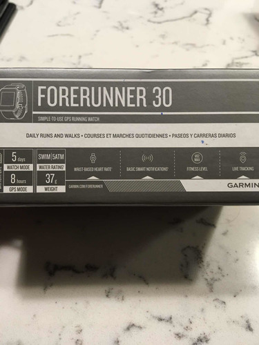 garmin forerruner 30, nuevo en caja!