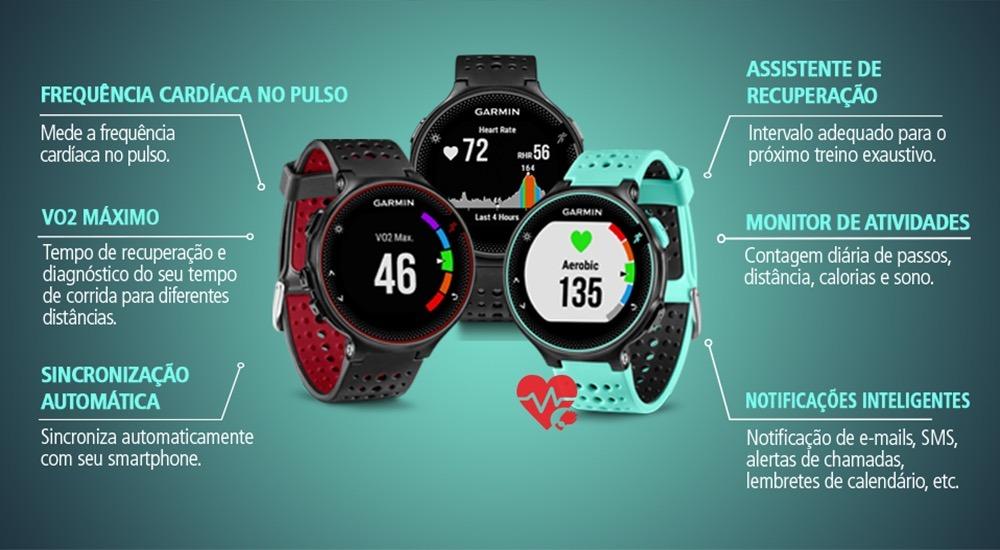 b8a3be060ae garmin forerunner 235 gps monitor cardíaco bluetooth sporte · garmin  monitor cardíaco sporte. Carregando zoom.