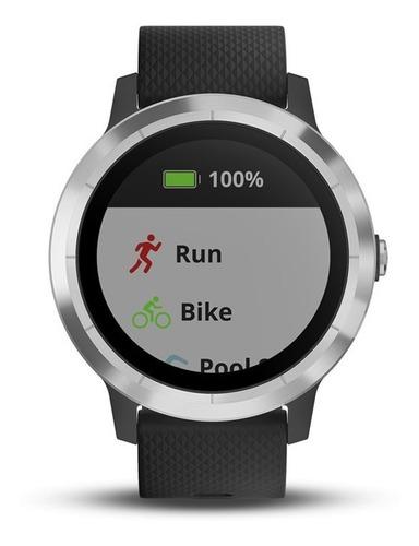 garmin vívoactive 3 gps smartwatch - negro e inoxidable