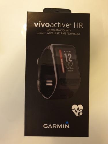 garmin vivoactive hr en caja con extras. no fenix.