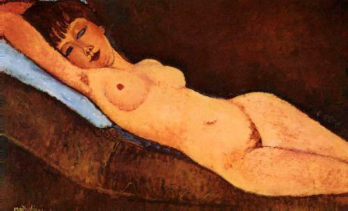 garota mulher nua deitada reproducao de modigliani em tela
