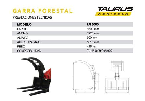 garra forestal uña madera manipulador telescopico taurus pal