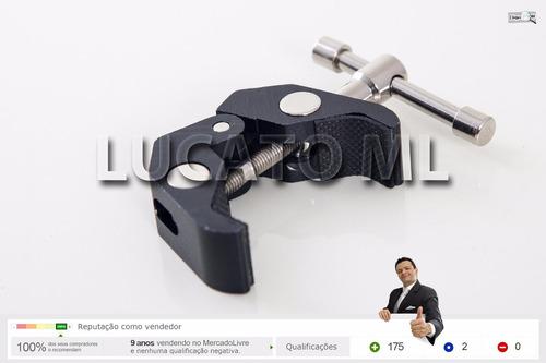 garra para braço articulado tripé flash roscas 1/4 3/8 | nc