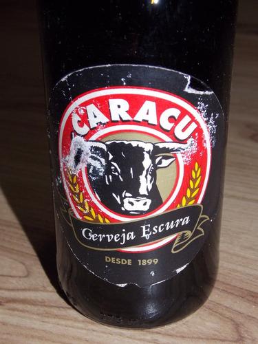 garrafa antiga cheia cerveja caracu anos 90