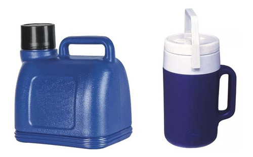 garrafa cantil termico 3.5 e 2 litros c/ bico - verm